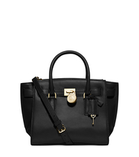 Hamilton Traveler Medium Leather Satchel - BLACK - 30F4GHXS2L
