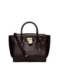 Hamilton Traveler Medium Leather Satchel - CHOCOLATE - 30F4GHXS2L