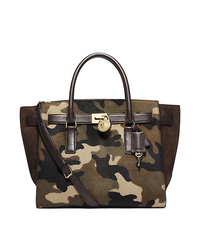 Hamilton Traveler Camouflage Hair Calf Satchel - ACID YELLOW - Sold Out - 30F4GHXS3H