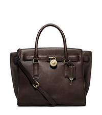 Hamilton Traveler Large Leather Satchel - CHOCOLATE - 30F4GHXS3L
