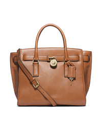 Hamilton Traveler Large Leather Satchel - SUNTAN - Sold Out - 30F4GHXS3L