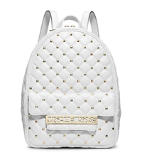 Kim Studded Leather Medium Backpack - Optic White - 30F4GKMB6L