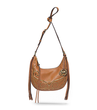 Rhea Studded Leather Small Shoulder Bag - LUGGAGE - 30F4GRAL5L
