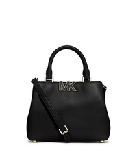 Florence Leather Small Satchel - BLACK - 30F4GRES1L