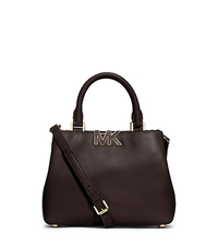 Florence Leather Small Satchel - CHOCOLATE - 30F4GRES1L