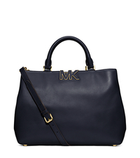 Florence Leather Large Satchel - NAVY - 30F4GRES3L
