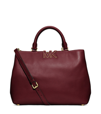 Florence Leather Large Satchel - CLARET - 30F4GRES3L