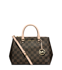 Sutton Logo Checkerboard Medium Satchel - ONE COLOR - 30F4GSUS6I