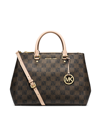 Sutton Logo Checkerboard Large Satchel - ONE COLOR - 30F4GSUS7I