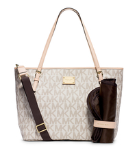Jet Set Travel Logo Diaper Bag - VANILLA - 30F4GTTT4B