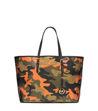 Jet Set Travel Camouflage Saffiano Leather Medium Tote - DUFFLE - 30F4GTVT2R