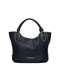 Vanessa Leather Medium Shoulder Bag - NAVY - 30F4GVNE2L