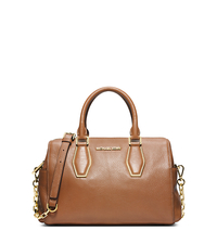Vanessa Leather Medium Satchel - LUGGAGE - 30F4GVNS6L