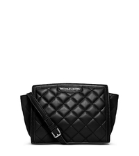 Selma Quilted Leather Medium Messenger - BLACK - 30F4GZQM2L