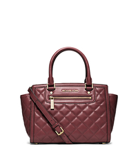 Selma Quilted Leather Medium Satchel - WALNUT - Sold Out - 30F4GZQS2L
