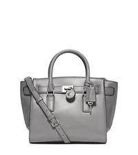 Hamilton Traveler Medium Leather Satchel - HEATHER GREY - 30F4SHXS2L