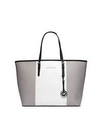 Jet Set Travel Tri-Color Saffiano Leather Medium Tote - ONE COLOR - 30F4SJTT2L