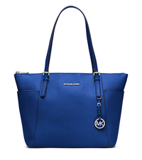 Jet Set Large Top-Zip Leather Tote - ELECTRIC BLUE - 30F4STTT9L