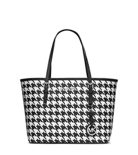 Jet Set Travel Houndstooth Saffiano Leather Small Tote - ONE COLOR - 30F4STVT1U