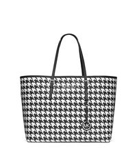 Jet Set Travel Houndstooth Saffiano Leather Medium Tote - ONE COLOR - 30F4STVT2U