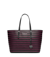 Jet Set Travel Striped Saffiano Leather Tote - ONE COLOR - 30F4SVST6R