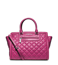 Selma Quilted Leather Large Satchel - ONE COLOR - 30F4SZQS3L