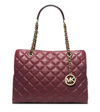 Susannah Quilted Leather Large Tote - CLARET - 30H3GAHT3L