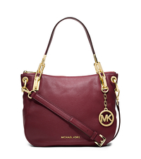 Brooke Leather Medium Shoulder Bag - CLARET - 30H3GOKE2L
