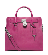 Hamilton Saffiano Leather Large Tote - DEEP PINK - 30T2SHMT3L