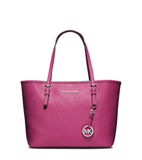 Jet Set Travel Saffiano Leather Small Tote - DEEP PINK - 30T3STVT1L