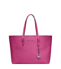 Jet Set Travel Saffiano Leather Tote - DEEP PINK - 30T3STVT6L