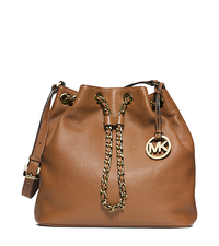 Frankie Drawstring Leather Shoulder Bag - LUGGAGE - 30F4GFKL3L