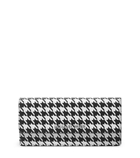 Jet Set Travel Houndstooth Saffiano Leather Wallet - ONE COLOR - 32F4STVE2U