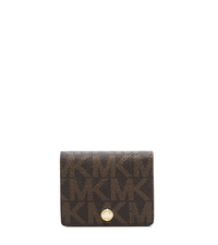 Logo Saffiano Leather Wallet - BROWN/LUGGAGE - 32F4GLSF1B