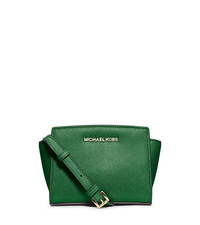 Selma Saffiano Leather Mini Messenger - GOOSEBERRY - 32H3GLMC1L