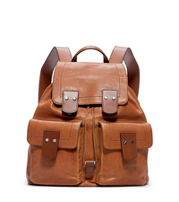 Wilder Vintage Leather Backpack - LUGGAGE - 33F4SIRB3L