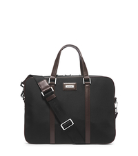 Windsor Slim Briefcase - BLACK/BROWN - 33F4SWDA2C