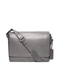 Warren Large Leather Messenger - ASH - 33S4MWRM3L