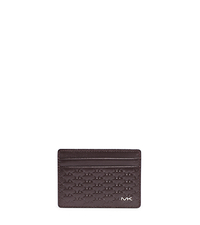 Jet Set Men's Logo-Embossed Card Case - BROWN - 39F4MMND1X