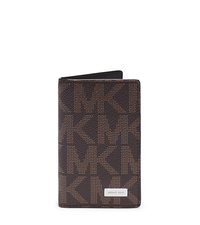 Jet Set Men's Logo ID Card Case - BROWN - 39F4MMND2B