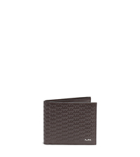 Jet Set Logo Embossed-Leather Billfold - BROWN - 39F4MMNF1X