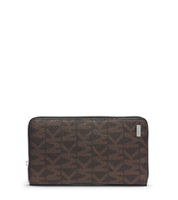 Jet Set Men's Logo Large Wallet - BROWN - 39F4MMNZ7B