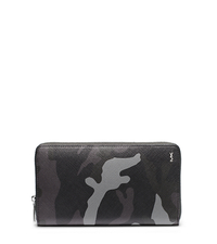 Jet Set Men's Camouflage Zip Wallet - GREY - 39S4TMNZ7R