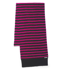 Striped Mohair-Blend Scarf - ELECTRIC PINK - MF40B279S9