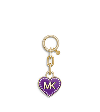Logo Heart Pavé-Embellished Fob - TORTOISE - Sold Out - 32F4MKCK1K