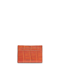 Crocodile Card Case - ORANGE - 39F4MMED1K