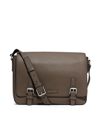 Bryant Pebbled-Leather Messenger - ARMY - 33S4SYTM3L