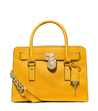 Hamilton Large Saffiano Leather Satchel - SUN - 30F4GHMS7T