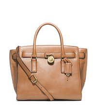 Hamilton Traveler Large Leather Satchel - SUNTAN - 30F4GHXS3L