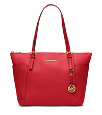 Jet Set Large Top-Zip Saffiano Leather Tote - RED - 30F4GTTT9L